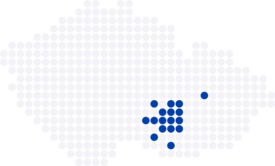 Realitní mapa Vysočina